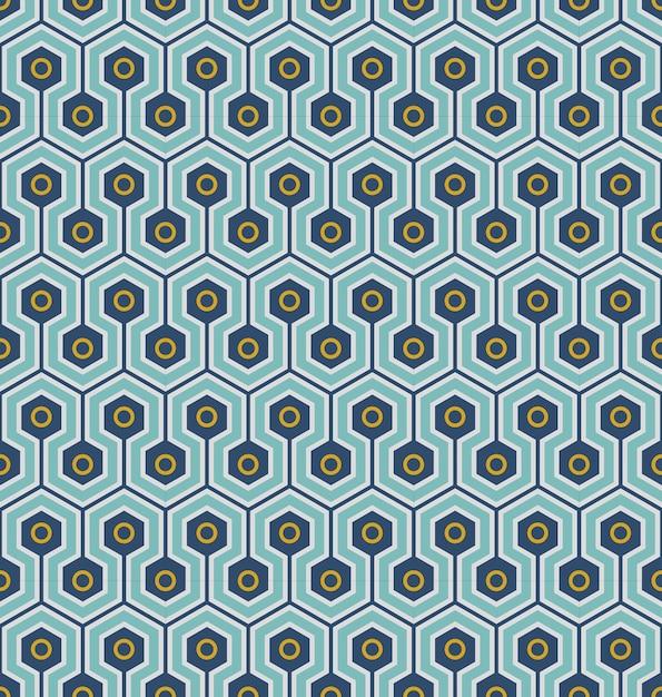 Plano de fundo transparente, padrão de geometria redonda hexágono cruzado. Vetor Premium