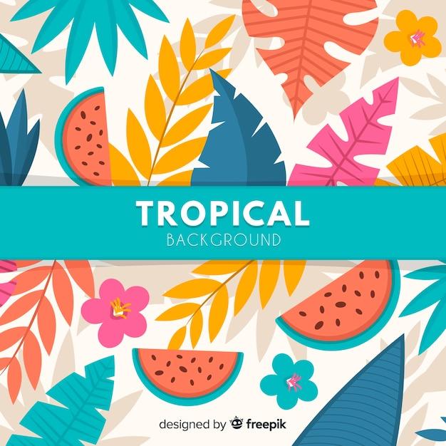 Plano de fundo tropical Vetor grátis