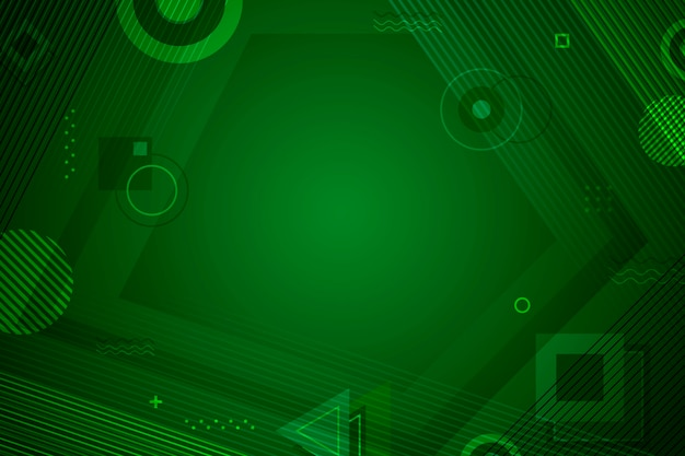 Plano de fundo verde abstrato geométrico Vetor grátis