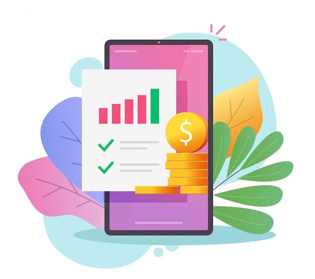 Plano de negócios de marketing financeiro e relatório de pesquisa de auditoria ou análise dinheiro renda vendas dados avaliação plana cartoon Vetor Premium