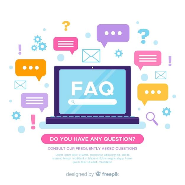 Plano de perguntas frequentes fundo Vetor grátis