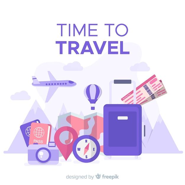 Plano de viagem Vetor grátis