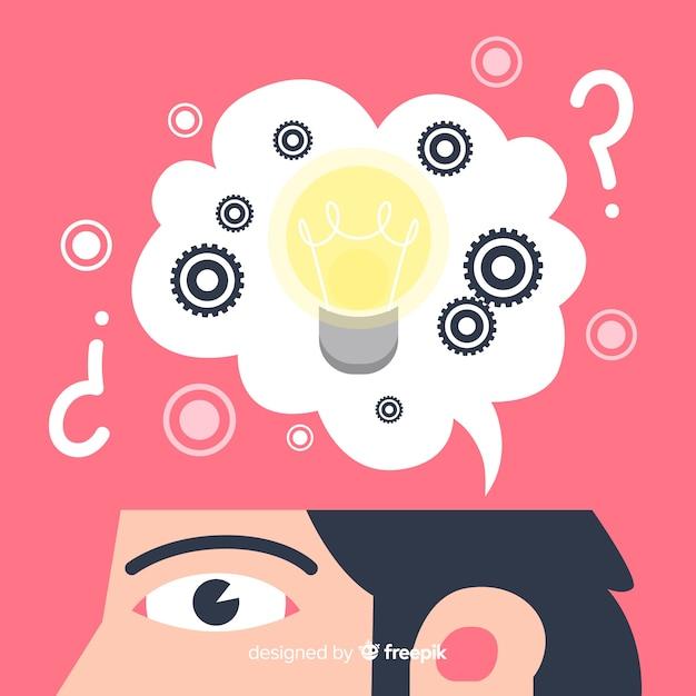 Plano, desing, pensando, conceito, fundo Vetor grátis