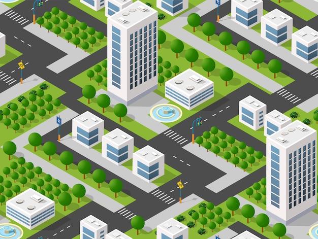 Plano urbano sem emenda Vetor Premium