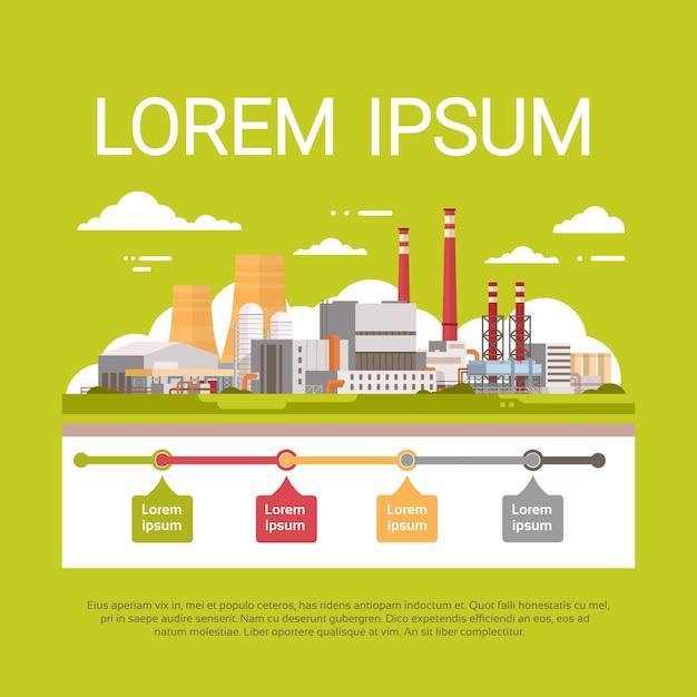 Planta de poluição natural Vetor Premium