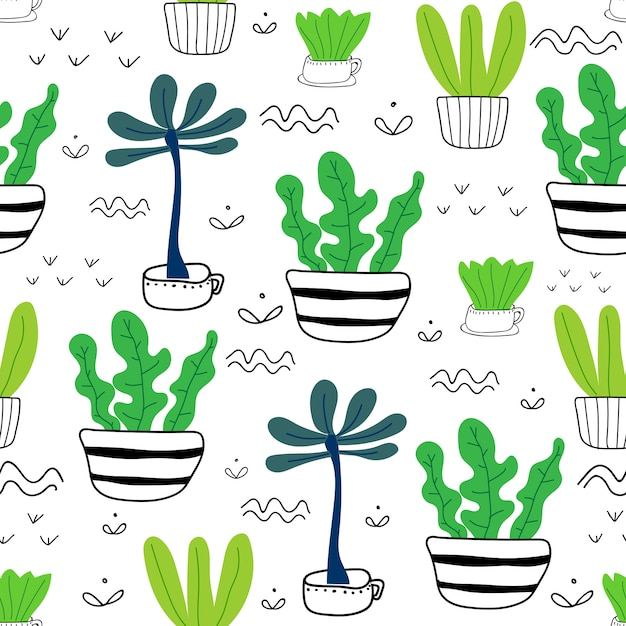 Planta suculenta sem costura de fundo. Vetor Premium