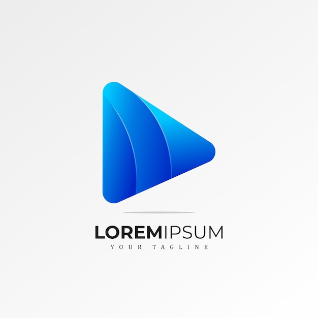 Play logo Vetor Premium