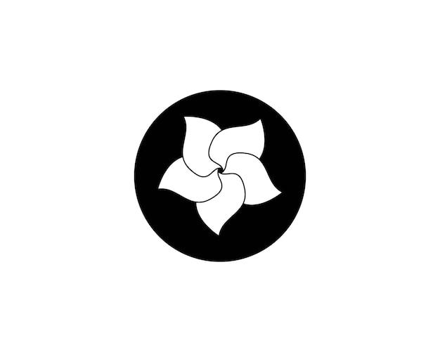 Plumeria flor beleza logotipo Vetor Premium
