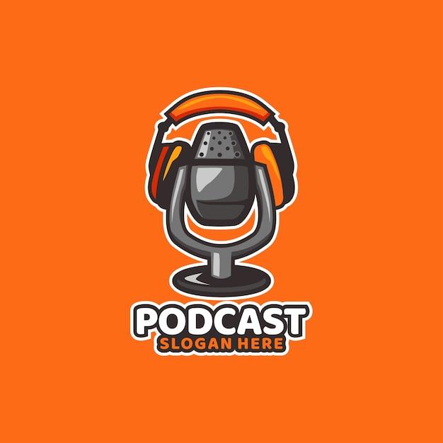 Podcast, som, mídia, rádio, música Vetor Premium