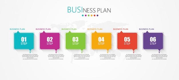 Pode ser usado para processo, apresentações, layout, banner, gráfico de informações há seis etapas ou camadas. Vetor Premium