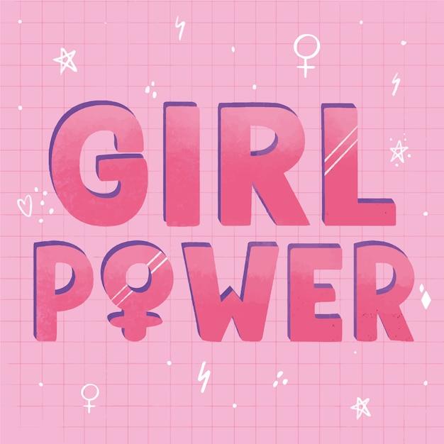 Poder feminino com símbolos de gênero Vetor grátis