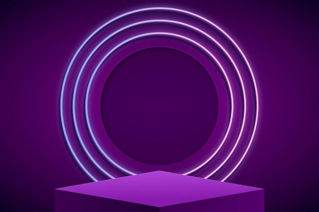 Pódio abstrato com luzes Vetor grátis