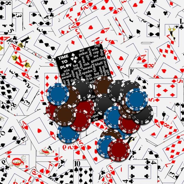 Poker e cassino Vetor Premium