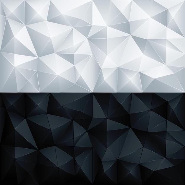 Polígono fundo de triângulo geométrico poligonal abstrato Vetor Premium