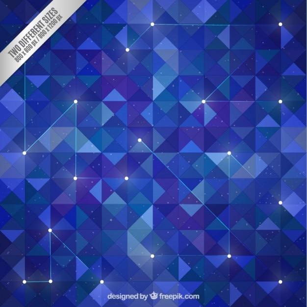 Polígonos fundo azul no estilo galáxia Vetor grátis