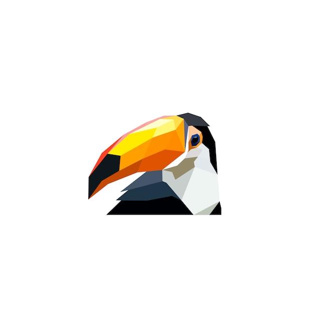 Poly art animal design Vetor Premium