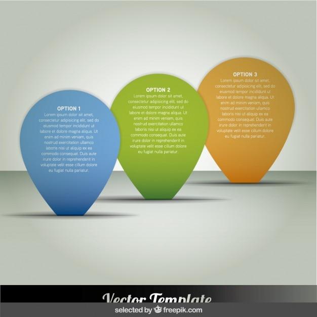 Ponteiro infográfico Vetor grátis