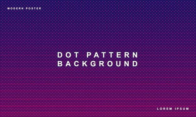Ponto padrão fundo com gradiente cor roxa Vetor Premium