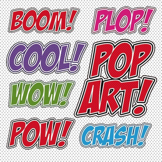 Pop art design Vetor Premium