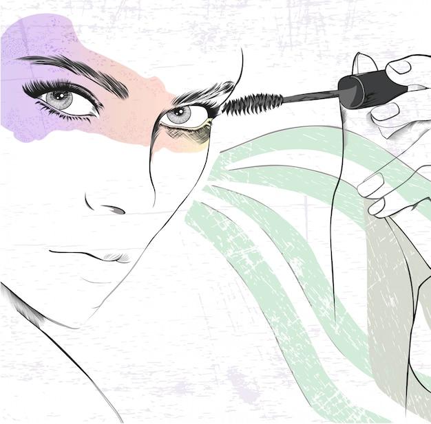 Pop art do olho de smokey Vetor Premium