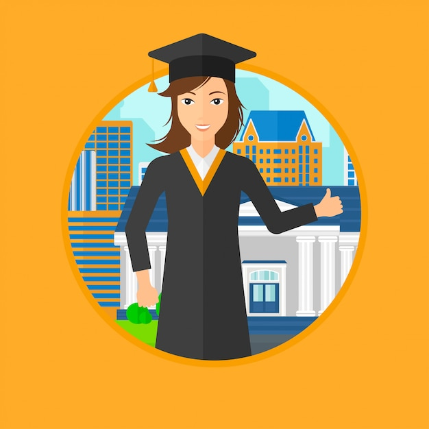 Pós-graduação desistir de polegar. Vetor Premium