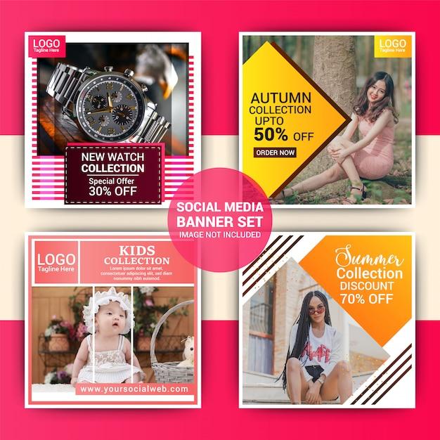 Post de instagram de moda criativa Vetor Premium
