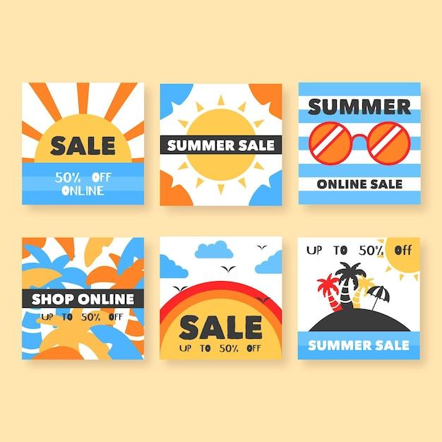 Post de instagram de venda de verão Vetor grátis