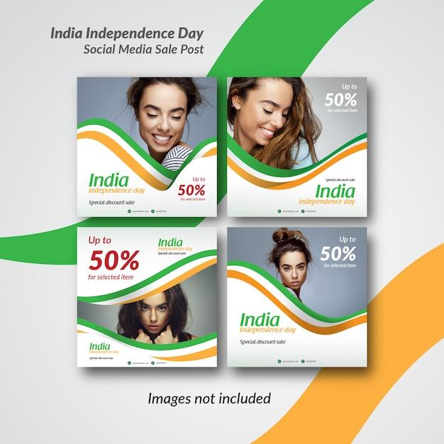 Post índia ou modelo de banner para instagram e mídias sociais Vetor Premium