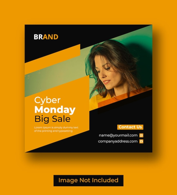 Postagem no instagram da cyber monday nas redes sociais Vetor Premium