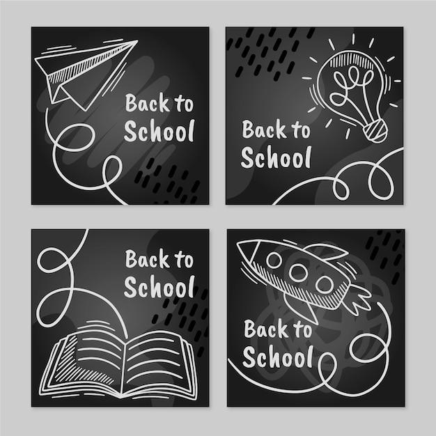 Postagens do instagram de volta às aulas Vetor grátis
