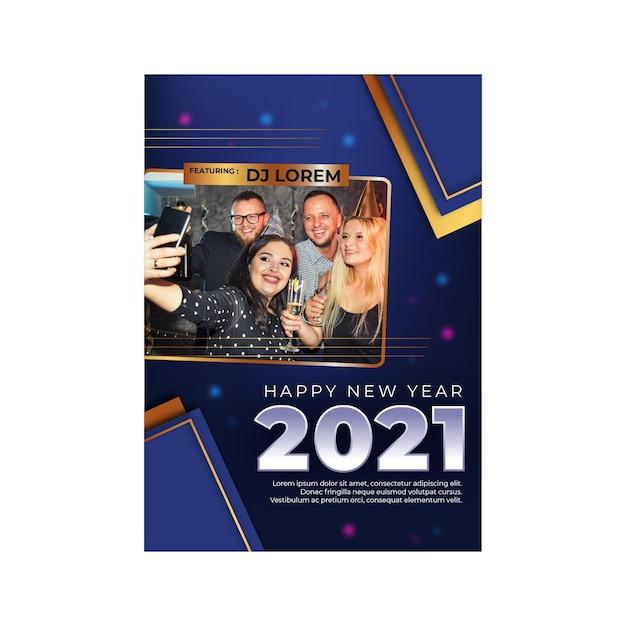 Pôster a4 de ano novo de 2021 Vetor grátis