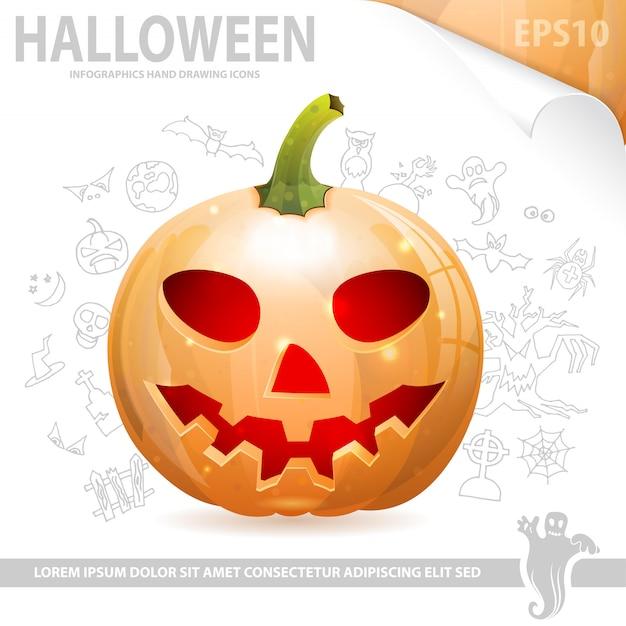 Poster de halloween Vetor Premium