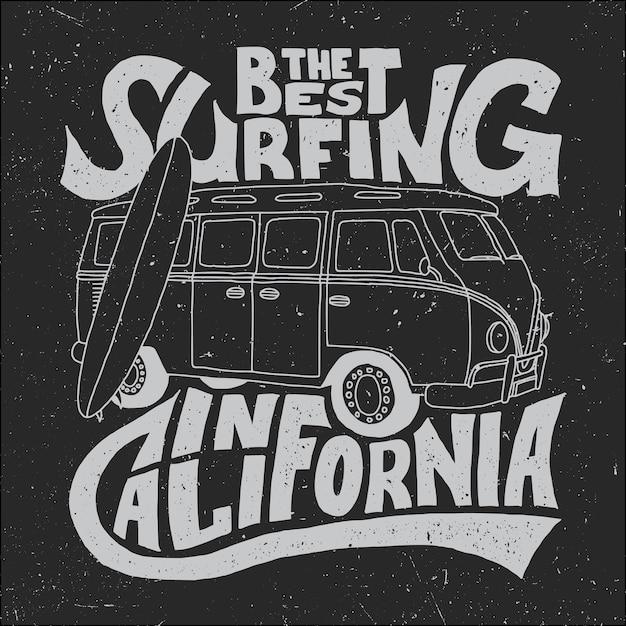Pôster de melhor surfista da califórnia Vetor grátis