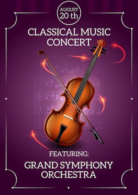 Poster de música clássica Vetor grátis