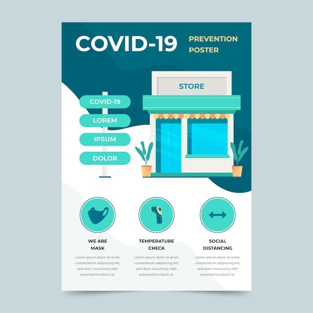 Pôster de prevenção de coronavírus Vetor grátis