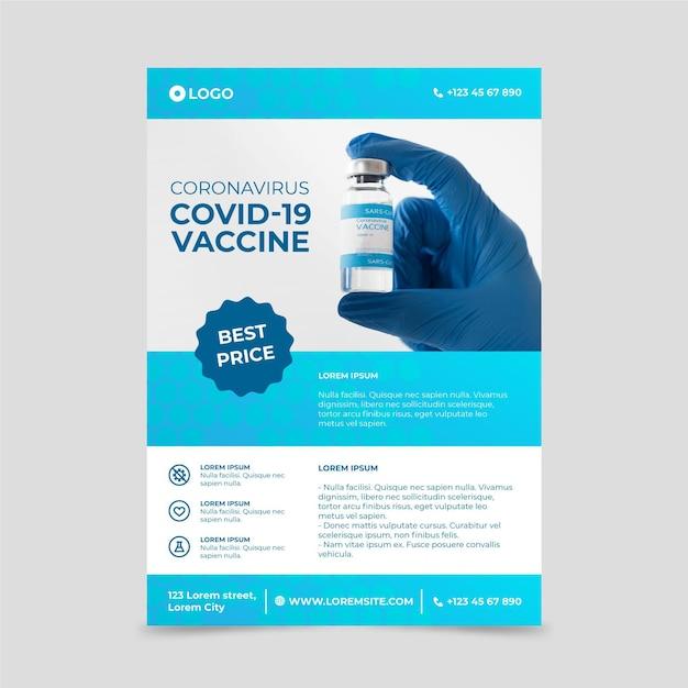 Pôster de produtos médicos do coronavirus com foto Vetor grátis