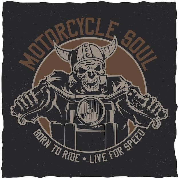 Pôster de soul da motocicleta Vetor grátis