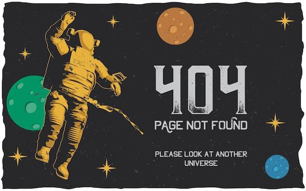 Poster do erro 404 com página não encontrada para usar para o site Vetor grátis