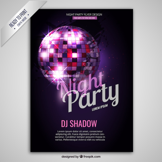 Poster do partido da noite Vetor grátis