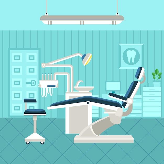 Poster do quarto dental Vetor grátis
