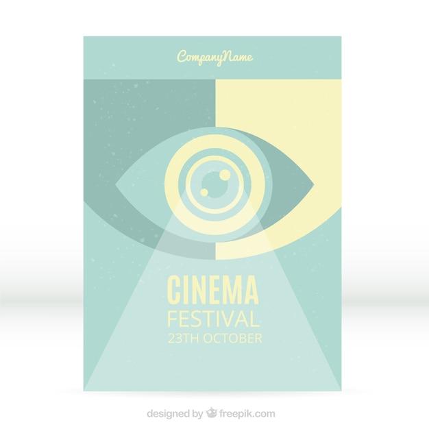 Poster festival de cinema abstrato do vintage Vetor grátis