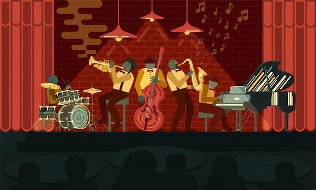 Poster no dia do jazz 30 de abril Vetor Premium