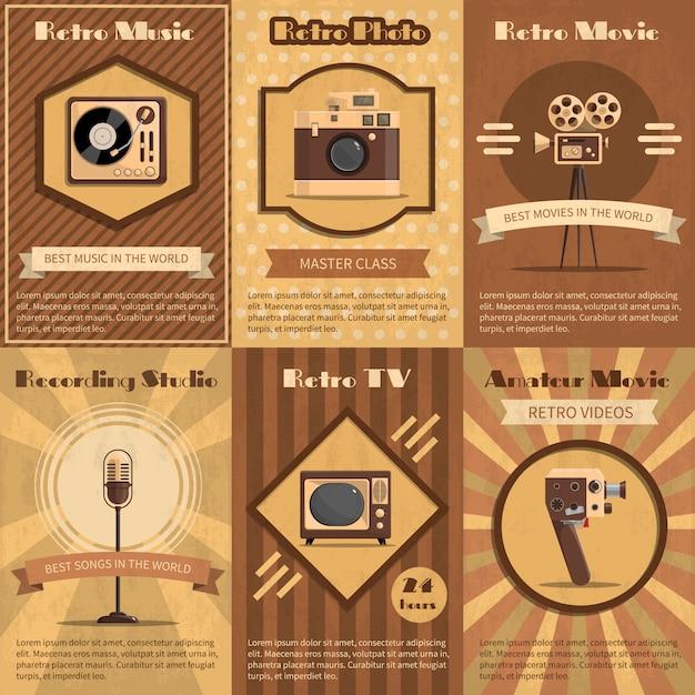 Poster retro do dispositivo Vetor grátis