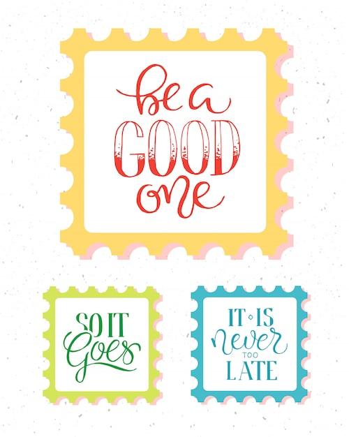 Poster vintage com citação de motivação em abstrato Vetor grátis