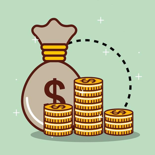 Poupar dinheiro Vetor grátis