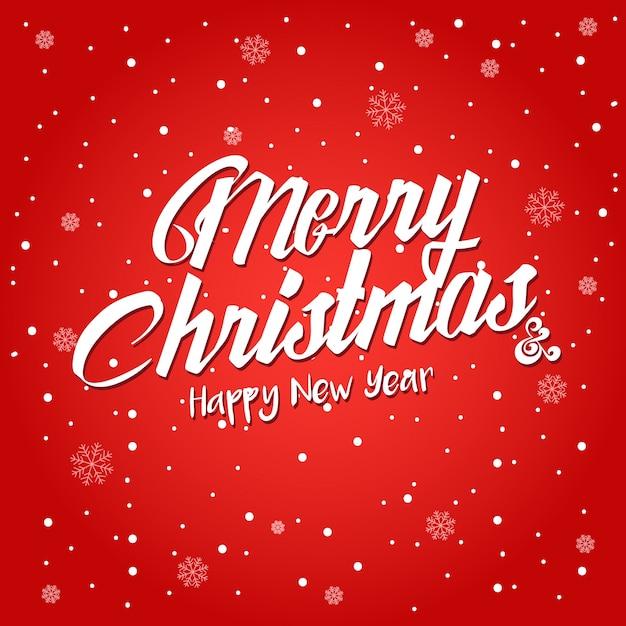 Praça vermelha feliz natal e ilustração do cartão de ano novo feliz Vetor grátis