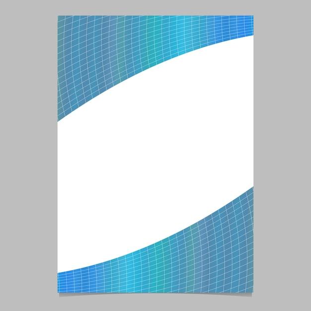 Prateleira de padrão de grade curvado colorido com gradiente moderno abstrato, modelo de folheto Vetor grátis