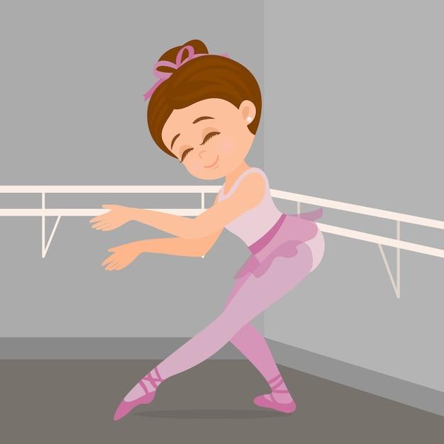 Praticando dança de balé Vetor Premium