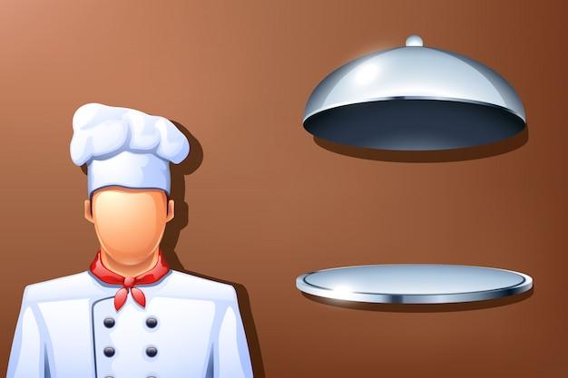 Prato de cozinha Vetor Premium