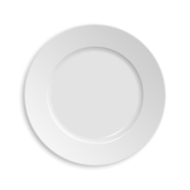 Prato vazio. isolado no fundo branco. Vetor Premium